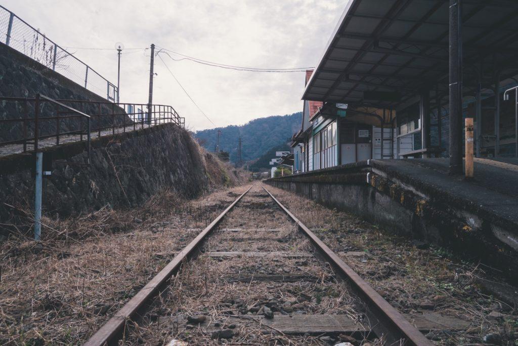 立野駅 線路